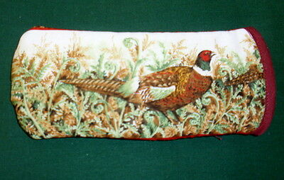 BN-  PHEASANTS 2- cotton GLASSES CASE ideal small gift