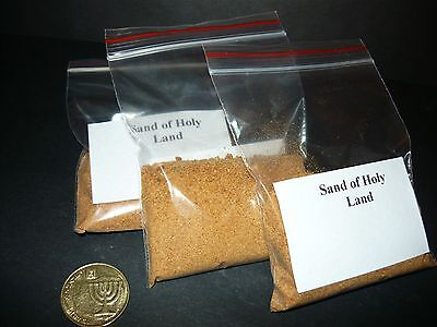 Lot 3 Bags Sand of Holy Land, Bible Earth, Jewish Christian Souvenir from Israel
