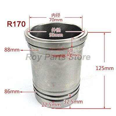 Cylinder Liner Sleeve For Changchai Changfa R170 Water Cooled Diesel Engine
