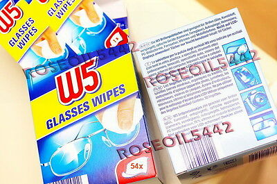 CLEANING WIPES W5 Glasses Smart Phones iPhone Tablets iPad PC TV Camera 54 Pcs