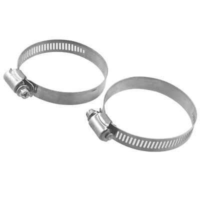 2 Pcs Adjustable Stainless Steel Worm Drive Hose Clips 44mm-67mm