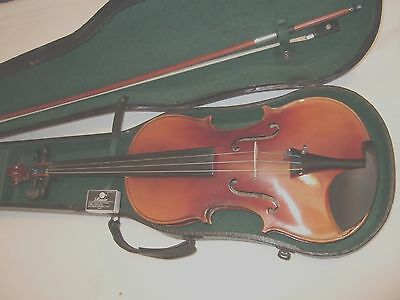 Beautiful sounding Stradivarius copy in good playing order & condition case+ bow