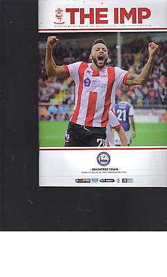 PROGRAMME - LINCOLN CITY v BRAINTREE TOWN - 1 OCTOBER 2016