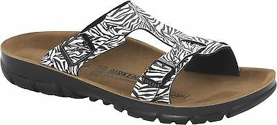 4a4f911e230 Birkenstock Sofia zebra black Gr. 36-39 schmales Fußbett made in Germany