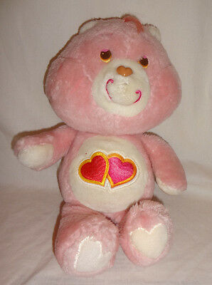 """Care Bears Vintage Love-A-Lot Plush 13"""" Stuffed Toy by Kenner 1983"""