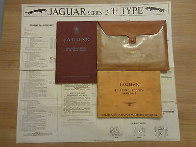 Jaguar E Type Series 2 Roadster/FHC 4.2/2+2 Owners Handbook/Manual and Wallet