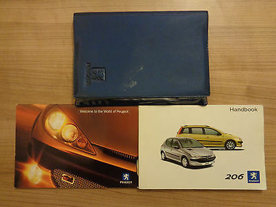 Peugeot 206 Owners Handbook/Manual and Wallet 02-04