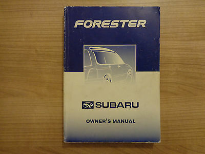 Subaru Forester Owners Handbook/Manual 97-01
