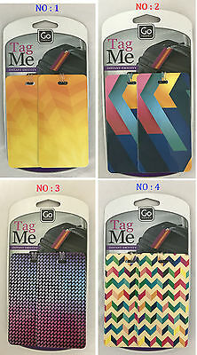 Go Travel - Tag Me (Patterned) Luggage / Suitcase Tag Labels