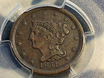 1851 Half Cent PCGS VF30 CAC New Purchases CHN!