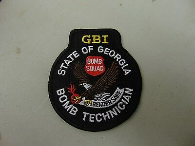 Law Enforcement Patch Police Gbi State Of Georgia Bomb Squad Technician