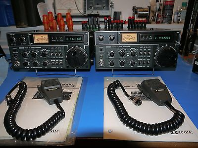 """Icom IC-251A and IC-451A VHF UHF Transceiver Pair  """"Twins"""""""