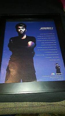 George Michael The Man And His Music Rare Original Promo Poster Ad Framed!