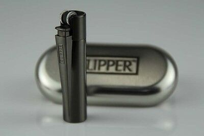 1pc MINI SIZE Blakc METAL CLIPPER LIGHTER!WITH METAL GIFT BOX!