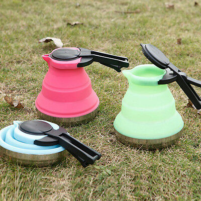 Collapsible Kettle Camp Travel Silicone Folding Pop-Up Gas Stove Hob Water Pot
