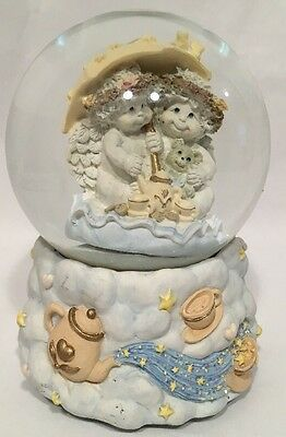 """Dreamsicles """"Tea For Two"""" Large Musical Snow Globe, Westland, 6"""""""