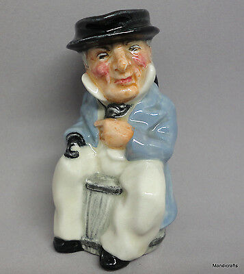 Artone Toby Jug 3in Pitcher Captain Cuttle Character Dickens Staffordshire Vtg