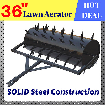 """LAWN AERATOR 36"""" Tow Behind Tractor ATV Ride-on Mower LAWN CARE SPIKE GARDEN"""