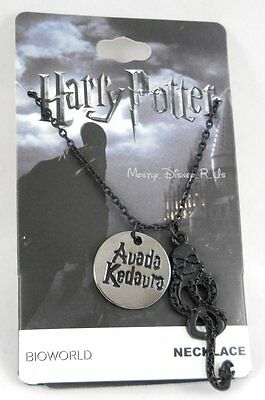 New Harry Potter Hogwarts Death Eater Charm Quote Avada Kedavra Pendant Necklace