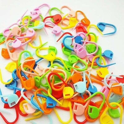 100× Knitting Craft Crochet Locking Stitch Chic Needle Clip Markers Holder Pins
