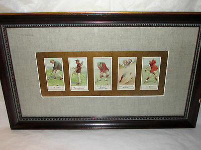 Bombay Company Framed Golf Print Wall Art Picture Golfing Playing Players Decor