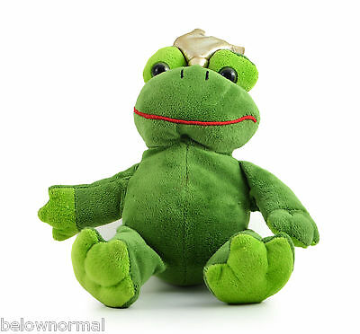 Prince Frog Super Cute Stuffed Frog with a Crown Clean Plush hug soft animal 212