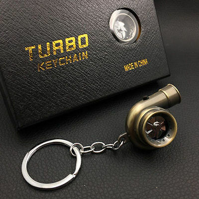 Bronze LED TURBO Keychain Key Chain Ring Keyring Keyfob Great Gift U Like