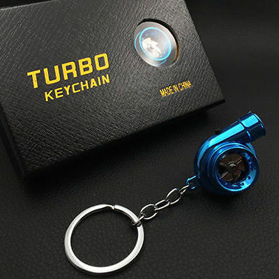Blue LED TURBO Keychain Key Chain Ring Keyring Keyfob Great Gift U Like
