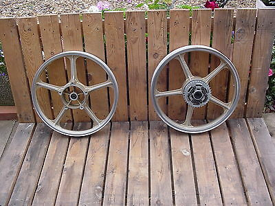 Kawasaki AR125 front and rear wheels.