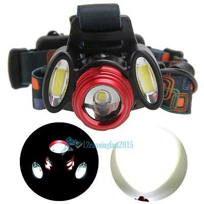 15000LM 3 x T6 USB  LED Flashlight Rechargeable Headlamp HeadLight Torch Lamp
