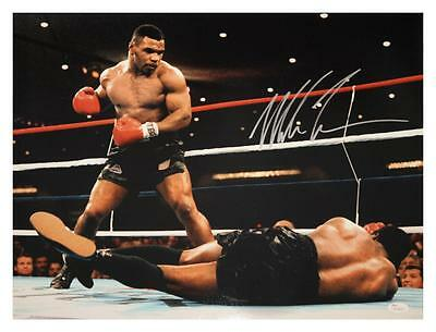 Signed Mike Tyson Huge 20 x 16 Photo Authrnticated by JSA Proof COA