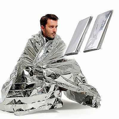 Emergency Foil Blanket Thermal Survival  Blankets First Aid Protect 24c