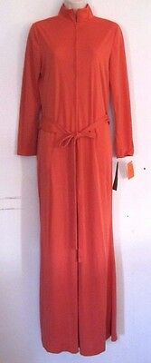 VTG 1970s LIZ ROBERTS ORANGE / RUST ? ROMPER JUMP SUIT PLAY SUIT ZIP FR  SIZE 12