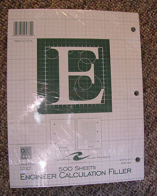 Roaring Spring Engineering Filler, 8.5 x 11 Inches, Green, 500 Sheets