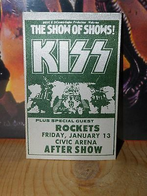 1978 KISS ALIVE II The SHOW Of SHOWS ROCKETS  Tour fabric Backstage Pass UNUSED