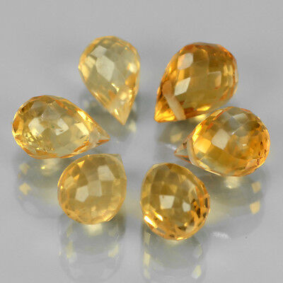 0.35Ct Citrino Colore Oro Naturale Certificato Natural Citrine 0.35 Ct Certified
