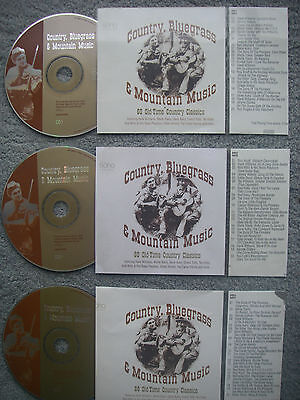 Country Bluegrass  3 x Jukebox CDs for NSM Jukeboxes + matching Title Cards
