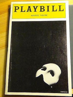Playbill The Phantom of the Opera 1993 Majestic Theatre Mark Jacoby, Culliver