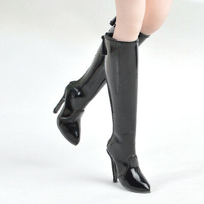 Long Boots High-heeled Shoe for 1/6 Custom Female Phicen Verycool Kumik doll