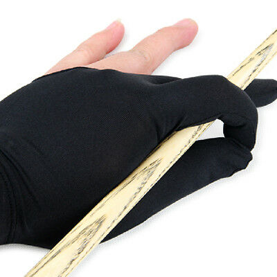 Professional 3 Fingers Glove Pool Shooter Billiards Cue Accessories Black