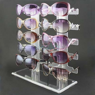 31cm Acrylic Sunglasses Rack Holder for 10 pair Glasses Display Stand