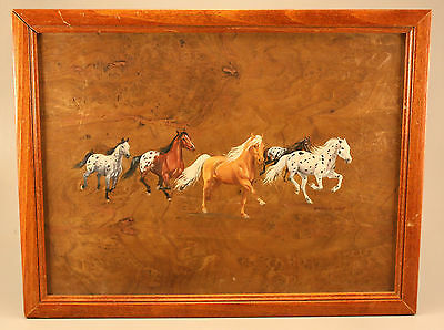 Pair Of Marna Haff Equine & Stag Paintings On Wood
