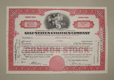 """Gulf States Utilities Company"" 15 Shares 1949 - common stock / Aktie"