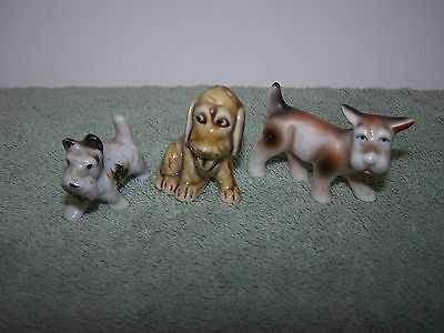 Lot Of 3 Vintage Japan Miniature Dog Figurines