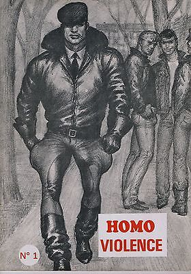 TOM of FINLAND - HOMO VIOLENCE N° 1 (gay interest) TRES RARE COLLECTOR