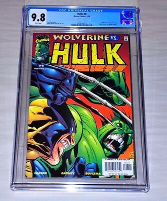 Hulk 8 CGC 9.8 White Pages Battles Wolverine Like Incredible 181