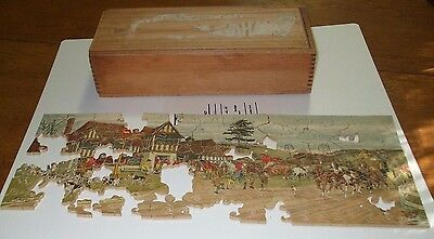 Vintage Antique 1930s MACY'S Macys Wooden JIGSAW jig saw PUZZLE 16X6