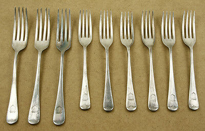 WWII NAAFI Navy Army & Air Force Insitutes Silver Plated Forks