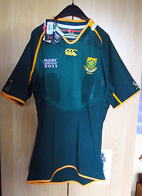 South Africa Springbok World Cup 2011 Test Jersey Canterbury NEW