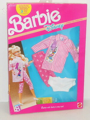 Barbie Disney Character Fashions #9198 - Goofy Nrfb 1989 Outfit Only